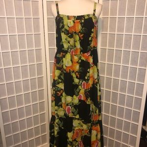 Lane Bryant fruit floral layered sundress dress